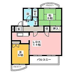カーサタツミ[4階]の間取り