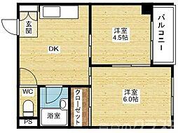EPO塚本レジデンス[6階]の間取り
