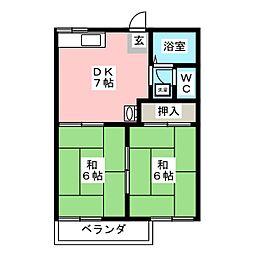 フォーブル鈍池[1階]の間取り