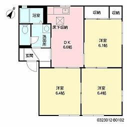 ひまわりガーデン B棟[1階]の間取り