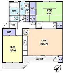 八千代台パークハイツA−1[4階]の間取り