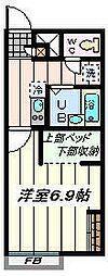 埼玉県さいたま市見沼区風渡野の賃貸アパートの間取り