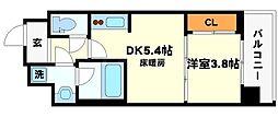 ライブガーデン江坂III[2階]の間取り