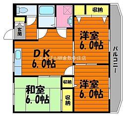 岡山県倉敷市福田町浦田丁目なしの賃貸マンションの間取り