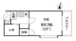 メゾン・ドゥ・フジ幡ヶ谷[3階]の間取り