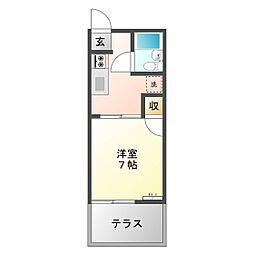 メゾン江戸橋[105号室]の間取り