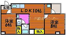 岡山県岡山市中区森下町の賃貸マンションの間取り