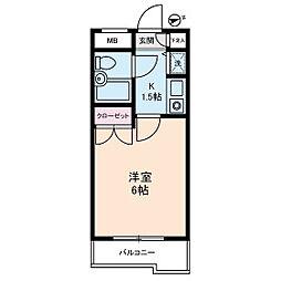 ジョイフル蒲田[201号室]の間取り