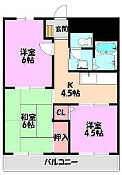 マンショングレース[1階]の間取り