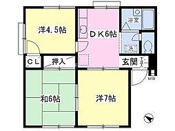 埼玉県上尾市緑丘1丁目の賃貸マンションの間取り