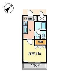 スカイハイツ510[2階]の間取り