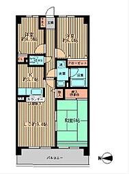 神奈川県相模原市中央区横山6丁目の賃貸マンションの間取り