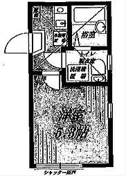 アンティロープ衣笠[203号室]の間取り