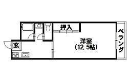 岡田マンション[202号室]の間取り