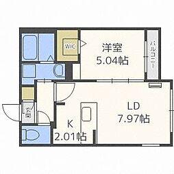 フォレストヒルズN36[2階]の間取り