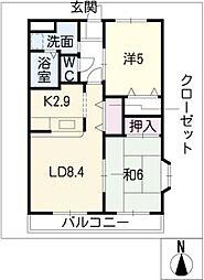 コンフォースA[1階]の間取り