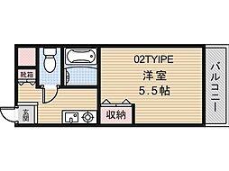 アミティカジュアル[302号室]の間取り