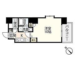 JR山陽本線 広島駅 徒歩24分の賃貸マンション 8階1Kの間取り
