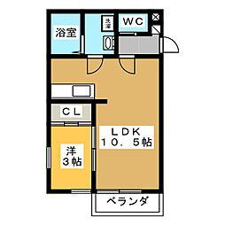 M壱番館[1階]の間取り