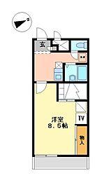 兵庫県たつの市龍野町島田の賃貸アパートの間取り
