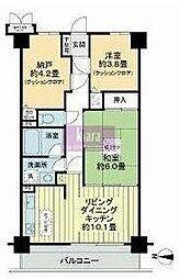クリオ片倉町六番館[100号室]の間取り