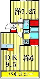 ピアニィ・レイディクス 2階2LDKの間取り