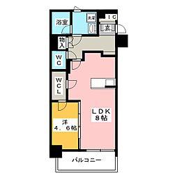 レオーネ台東三ノ輪 8階1LDKの間取り
