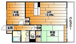 広島県広島市安佐南区長束4丁目の賃貸マンションの間取り