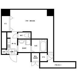 レジデンスナンワ[6階]の間取り