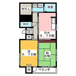 スプリングマンション柳町[4階]の間取り