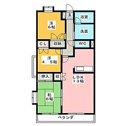 高田レジデンス[1階]の間取り