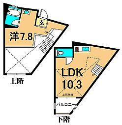 JR京浜東北・根岸線 大井町駅 徒歩5分の賃貸マンション 4階1LDKの間取り