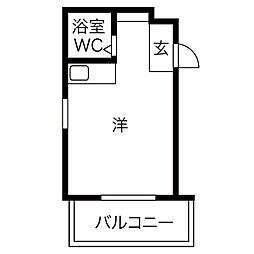 モールセゾンKF[3階]の間取り