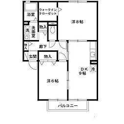 ガーデンハウス明正B棟[2階]の間取り