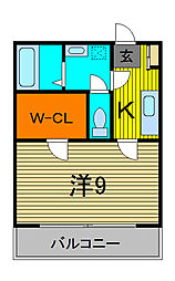 埼玉県川口市青木4丁目の賃貸アパートの間取り