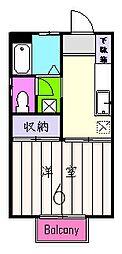 アビタシオン壱番館[2階]の間取り