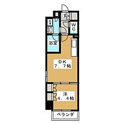パークアクシス横濱大通り公園 9階1DKの間取り