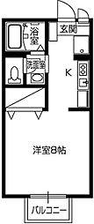 カリヨ 中万呂[101号室]の間取り