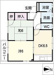 サニーコート明和 A棟[1階]の間取り