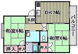 ハイツ菅原[C323号室]の間取り