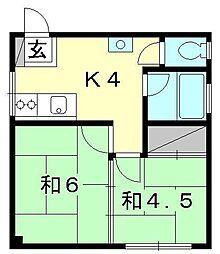 鎌田ビル[301 号室号室]の間取り