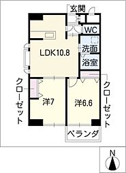 葵21ビル[5階]の間取り