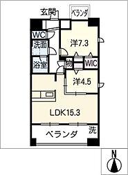 Chatmour[8階]の間取り