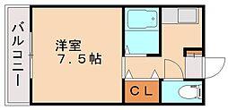 福岡県飯塚市横田の賃貸マンションの間取り