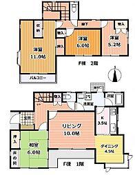 [一戸建] 神奈川県藤沢市鵠沼橘2丁目 の賃貸【/】の間取り
