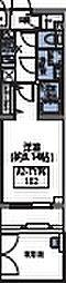 都営大江戸線 若松河田駅 徒歩5分の賃貸マンション 1階1Kの間取り