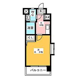 エンクレスト博多II[7階]の間取り