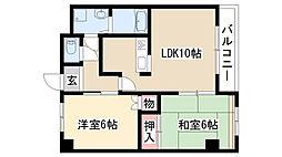 愛知県日進市香久山3丁目の賃貸アパートの間取り