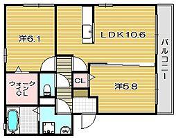 ヴィア ソレーユ[3階]の間取り