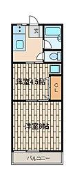 鶴川ニューハイツ[105号室]の間取り